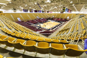 View of the entire U.S. Cellular Center in Asheville NC. View is from the upper corner and shows the entire seating area. Shot by commercial photographers at Forge Mountain Photography
