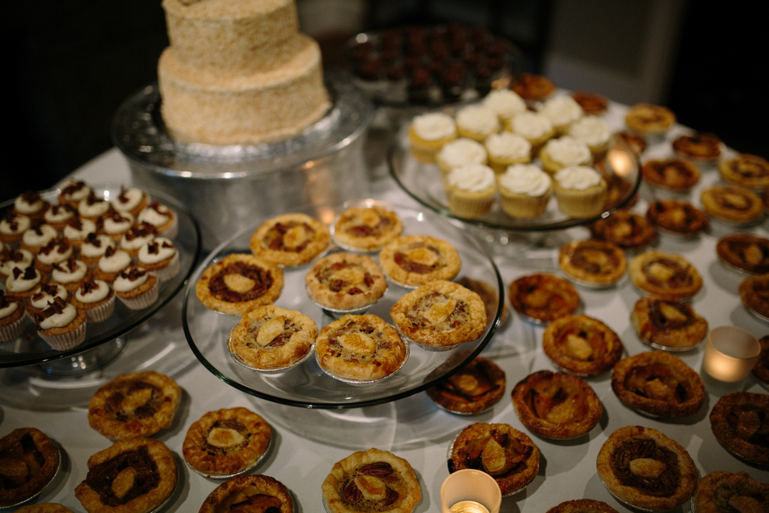 Dessert table with tart-lets