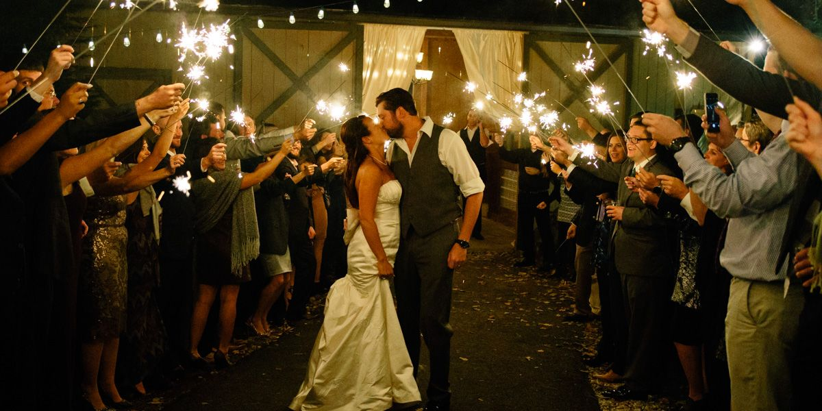 Asheville Wedding Photographer Sparkler Exit