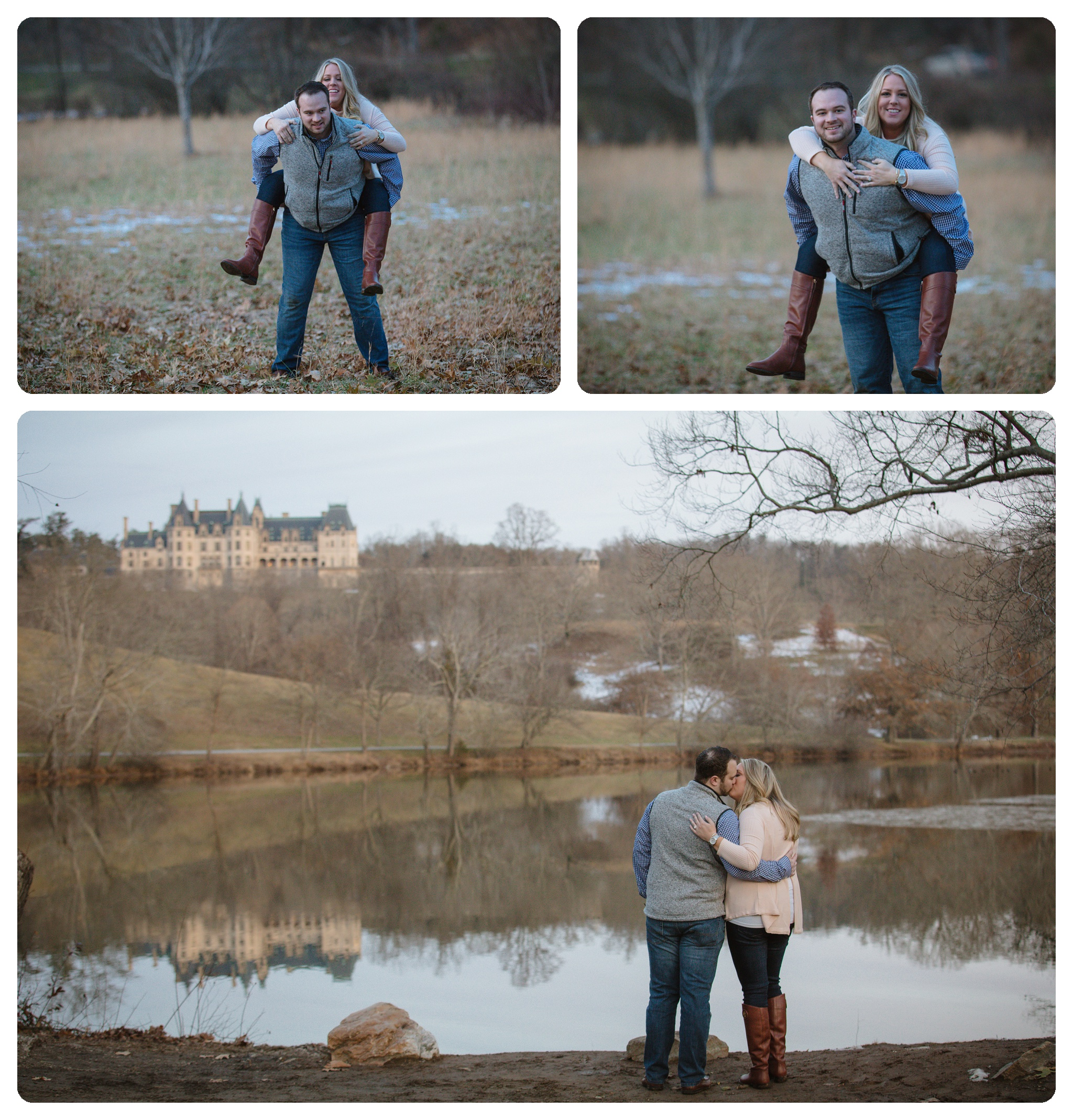 Jacob engagement shoots at the Lagoon on Biltmore Estate
