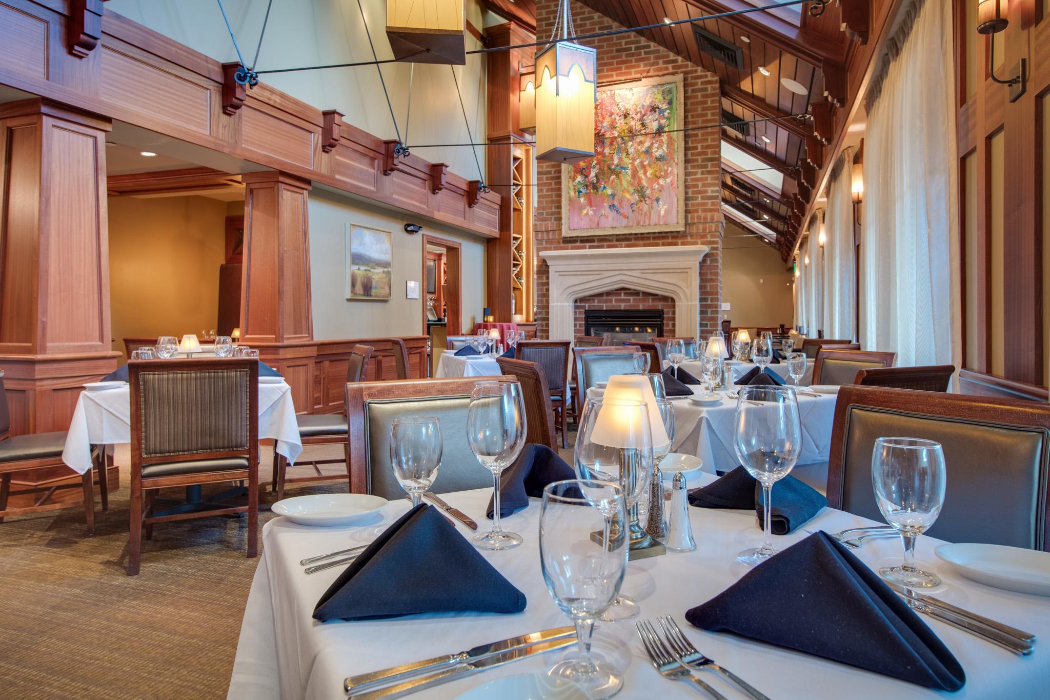 Ruth's Chris Steak House - Dining fireplace