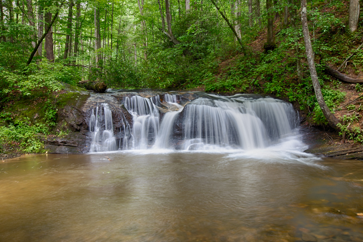 Picture of one of the many waterfalls we use for Adventure photography in Asheville, NC