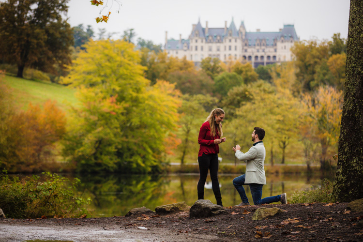 Biltmore Estate Proposal in fall with beautiful colors