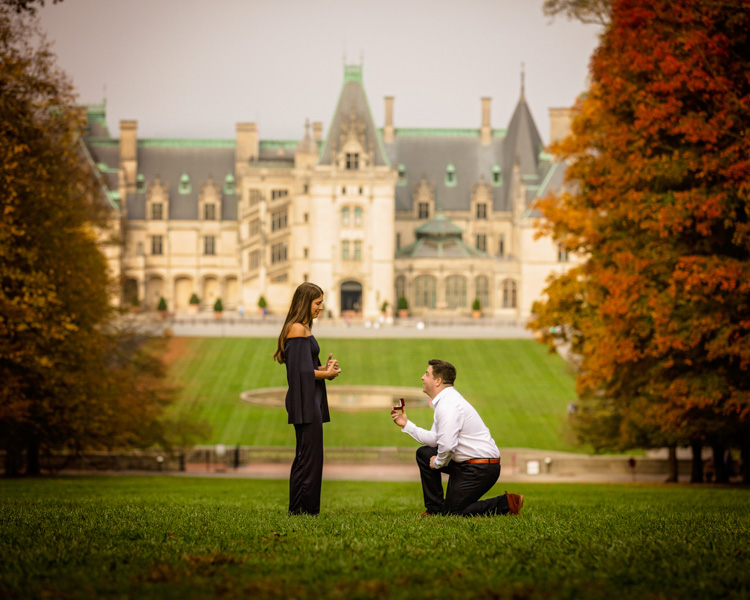 Biltmore Surprise Proposal At Christmas in Asheville